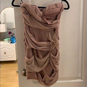 BEBE Rose Color mini dress